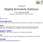 Übersicht: Digitale Editionen der Mediävistik